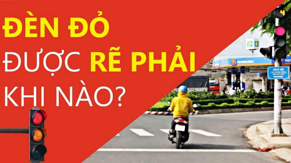 Rẽ phải khi đèn đỏ có vi phạm luật giao thông không?